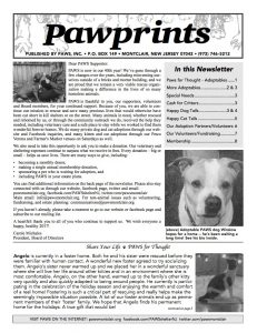 Pawprints 2016-2017 issue
