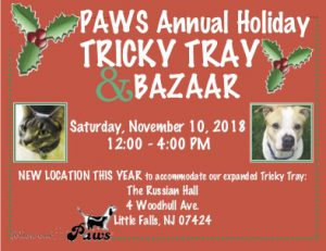 PAWS Annual Holiday Bazaar & Tricky Tray Postcard