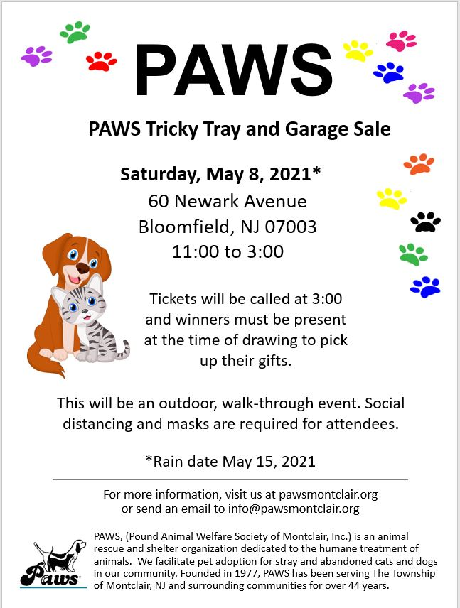 PAWS Tricky Tray and Garage Sale 2021